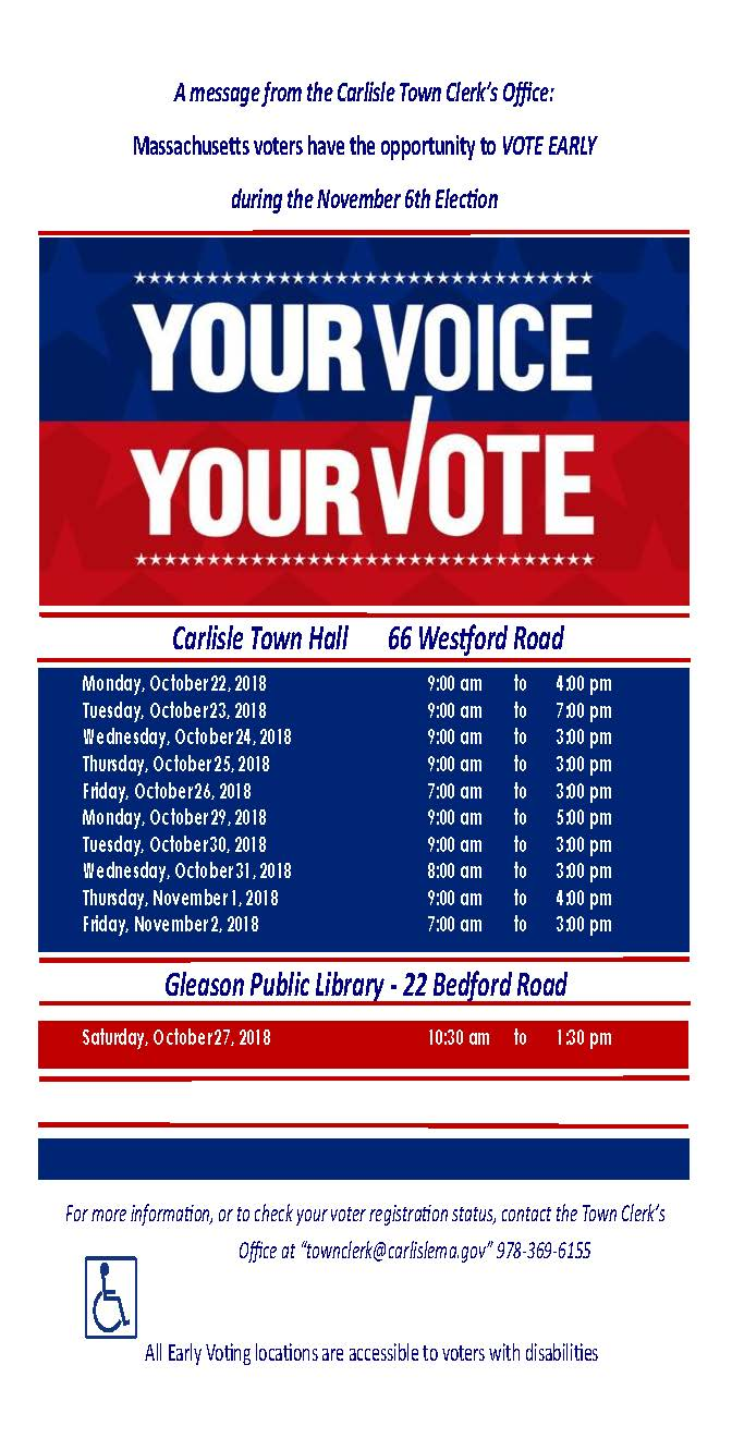 Early Voting Flyer 11-6-18